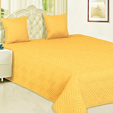 Přehoz Vigo žlutá, 220 x 240 cm, 2 ks 40 x 40 cm