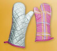 Grilovací rukavice, růžová