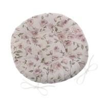 Siedzisko Ivo okrągłe pikowane Róża lila, 40 cm