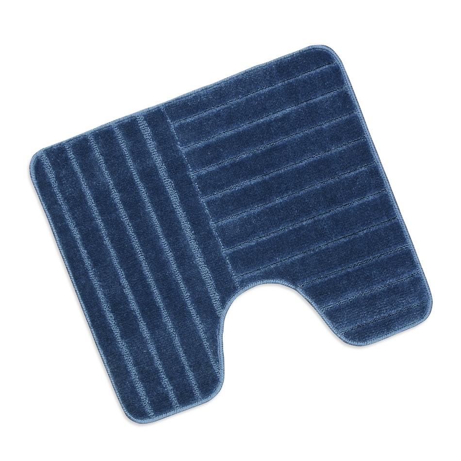 Bellatex Koupelnová předložka Standard Modré pruhy WC, 60 x 50 cm