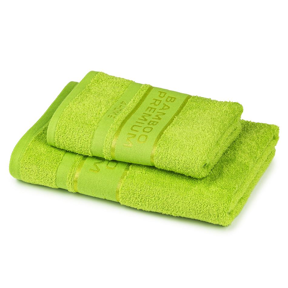 Fotografie 4Home Sada Bamboo Premium osuška a ručník zelená, 70 x 140 cm, 50 x 100 cm