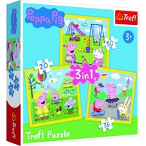Trefl Puzzle Prasátko Peppa, 3 ks