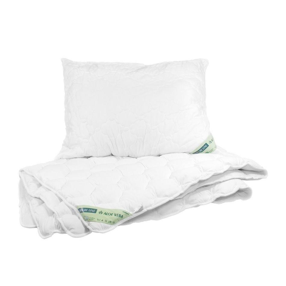 Vetro plus Set přikrývky a polštáře Natur Line - Aloe Vera, Calme 140x200 cm 70x90 cm