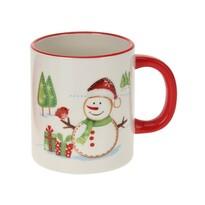 Hóember karácsonyi kerámiabögre, 330 ml