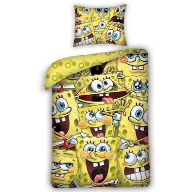Dětské bavlněné povlečení Sponge Bob, 140 x 200 cm, 70 x 80 cm