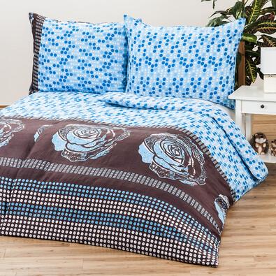 Krepové povlečení Mary Rose blue, 140 x 220 cm, 70 x 90 cm