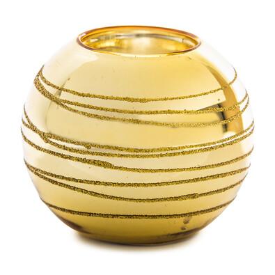 Svícen koule zlatá