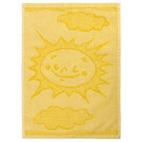 Detský uterák Sun yellow, 30 x 50 cm