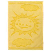 Sun yellow gyermek törölköző, 30 x 50 cm