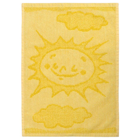 Dětský ručník Sun yellow, 30 x 50 cm