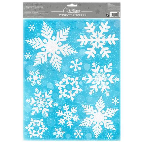 Vianočná okenná dekorácia Flakes, biela