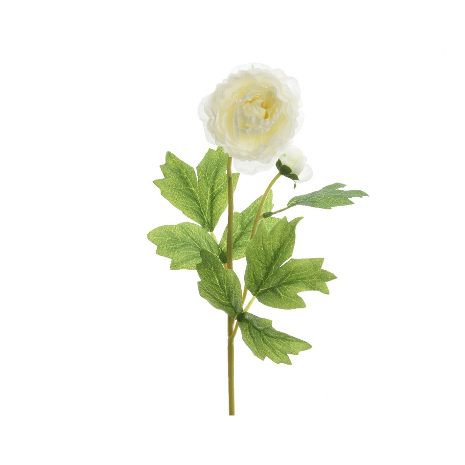 Umelý Ranunculus biela, 57 cm