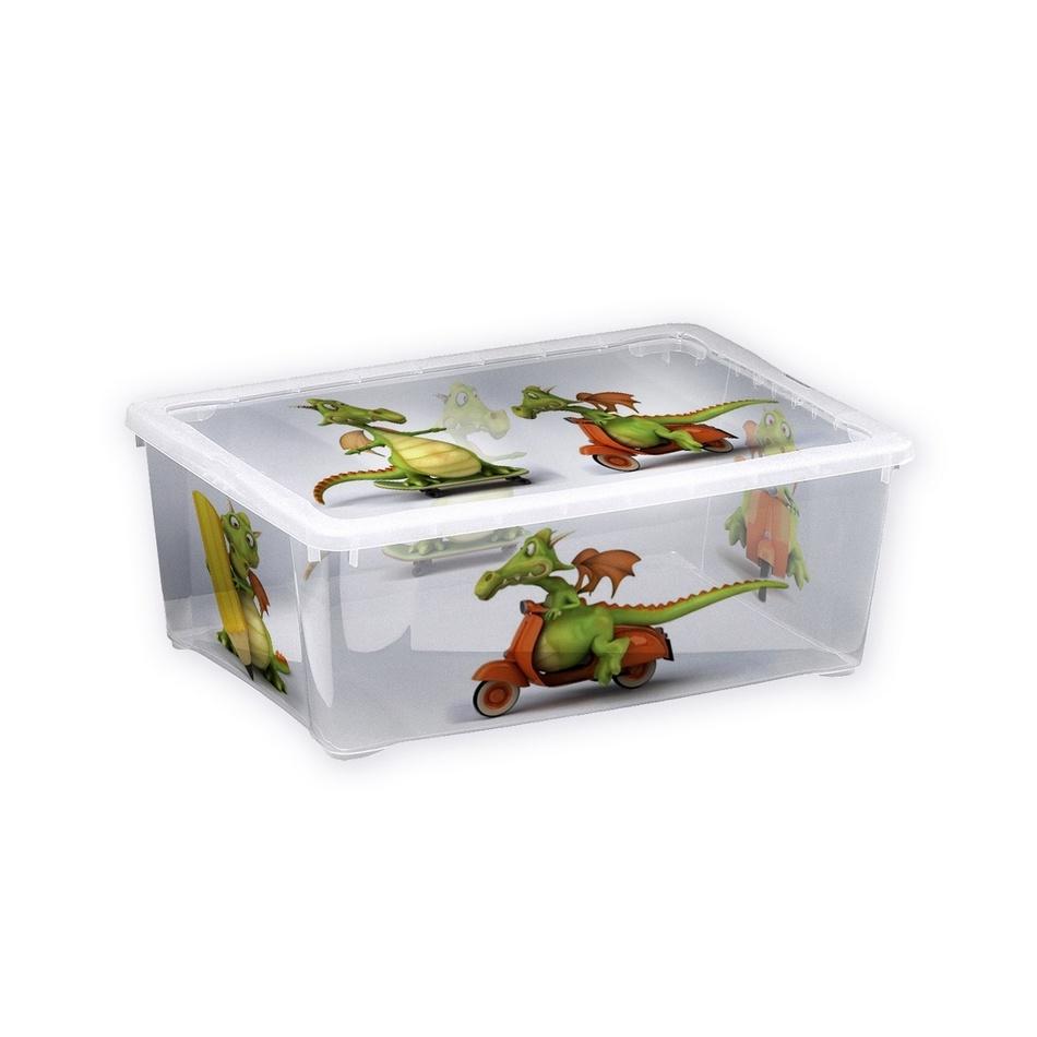 Plastový úložný box Dráček, 10 l