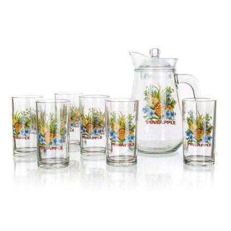 Džbánový set Pineapple, 1 džbán a 6 pohárov