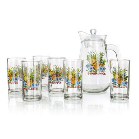 VETRO-PLUS Džbánový set PINEAPPLE, 7 ks 59GM2407A