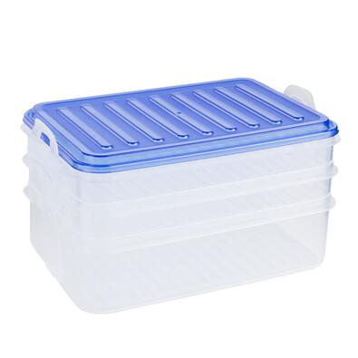 Caserolă de alimente cu 3 nivele, albastru
