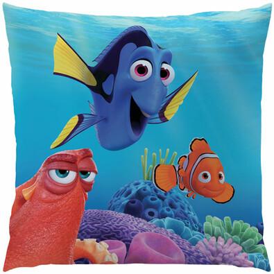 Polštářek Hledá se Nemo - Dory a přátelé, 40 x 40 cm