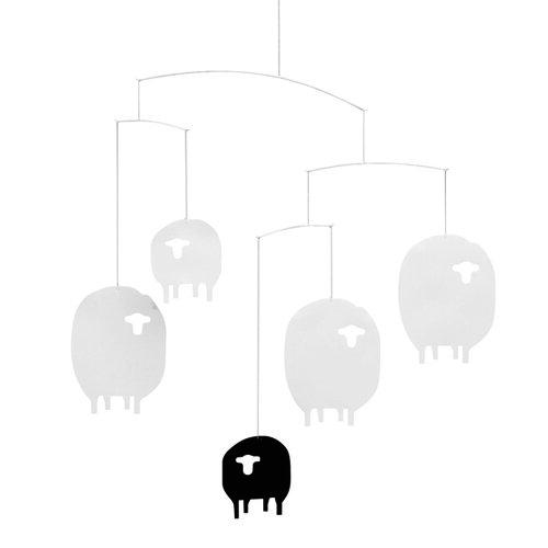 Kinet Sheep Mobile 40 cm, biely