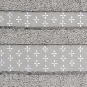 Ručník Vanesa světle šedá, 50 x 90 cm