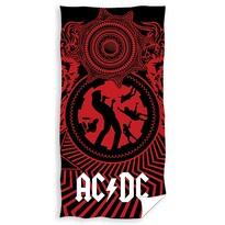 Ręcznik kąpielowy AC/DC Black Ice, 70 x 140 cm