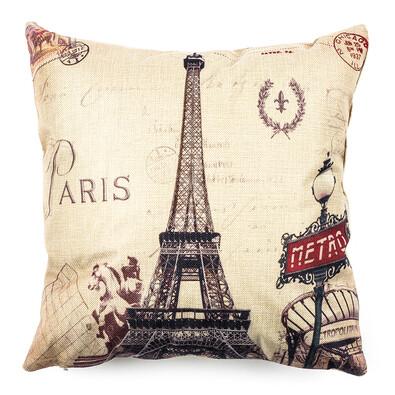 Obliečka na vankúšik Paris Eiffel metro, 45 x 45 cm