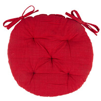 Siedzisko Red przeszywane, okrągłe, 40 cm