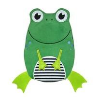 Hugo Frosch Detský termofor Eco Junior Comfort s motívom žabky, zelená