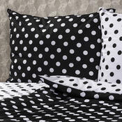 4Home Bavlnené obliečky Čierna bodka, 160 x 200 cm, 70 x 80 cm