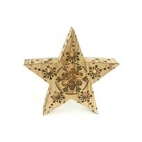 Vánoční dřevěná hvězda Lille, 7 LED