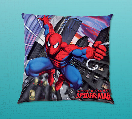 Polštářek Spiderman, 40 x 40 cm, modrá