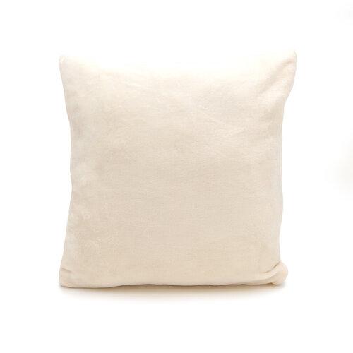 Vankúšik Mikroplyš New krémová, 40 x 40 cm