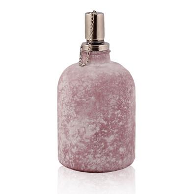 Skleněná olejová lampa růžová