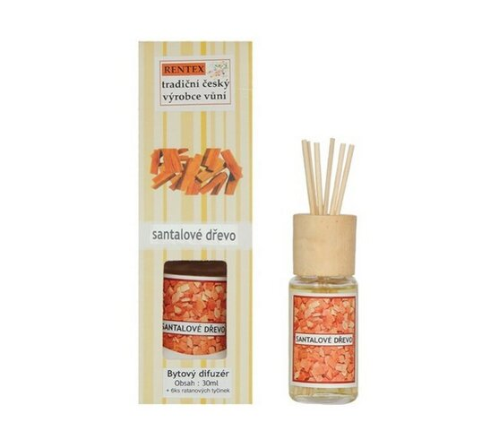 Bytový difuzér - santalové dřevo, 30 ml