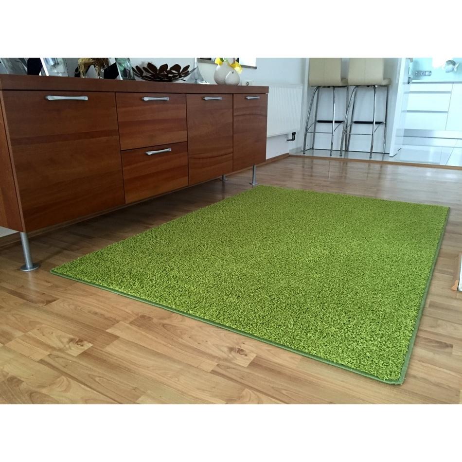 Vopi Kusový koberec Color shaggy zelená, 140 x 200 cm