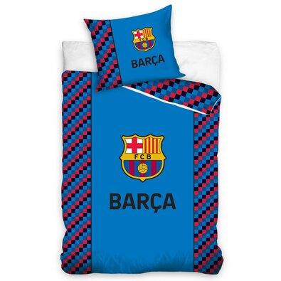 Bavlněné povlečení  FC Barcelona Small Cubes, 140 x 200 cm, 70 x 90 cm