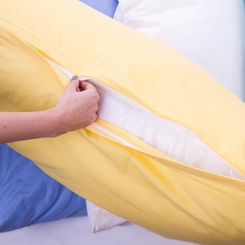 4Home Povlak na Relaxační polštář Náhradní manžel žlutá, 45 x 120 cm