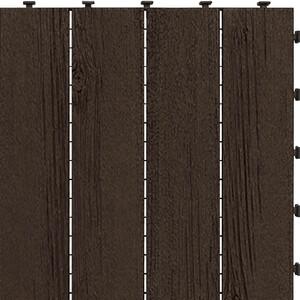 Gumová dlaždice Barnboard hnědá, 45 x 45 cm
