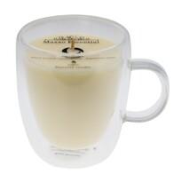 Maxxo Escential Coffee gyertya üvegpohárban,  természetes viasz, 300 g
