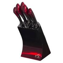 Berlinger Haus 6-częściowy zestaw noży w stojaku Black, Burgundy Metallic Line