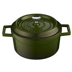 LAVA Metal Litinový hrnec kulatý 32 cm, zelená, 32 cm