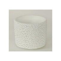 Osłonka betonowa na doniczkę Flower biały, 12,5 cm