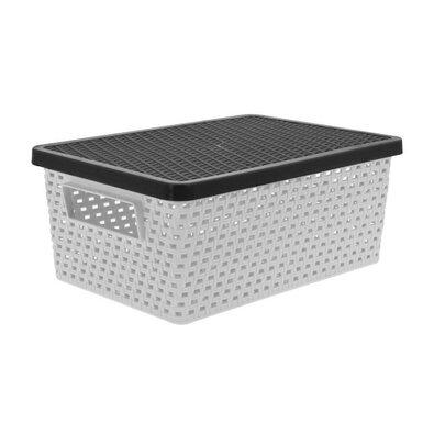 Úložný box 4 l, sivá