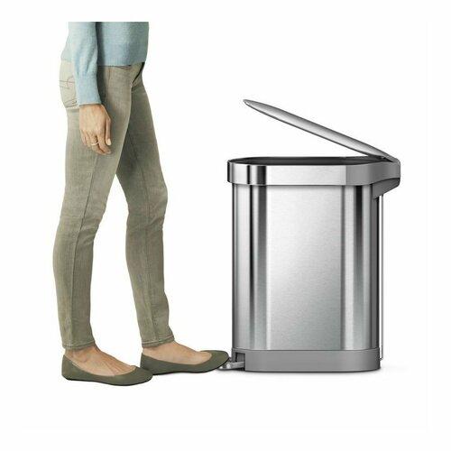 Simplehuman Pedálový odpadkový koš Slim 45 l, nerez