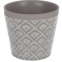 Keramický obal na květináč Gandia světle šedá, pr. 12,5 cm