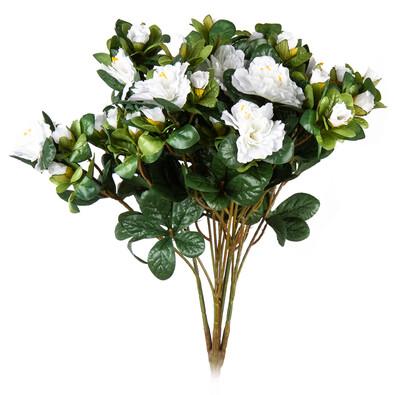 Floare artificială Azalee albă, 35 cm