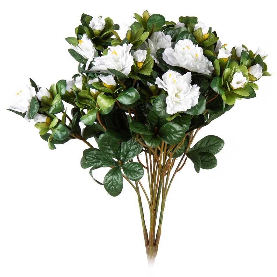 Umelá kvetina Azalka biela, 35 cm