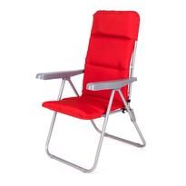 Happy Green Záhradná skladacia stolička Loara červená, 68 x 58 x 107 cm