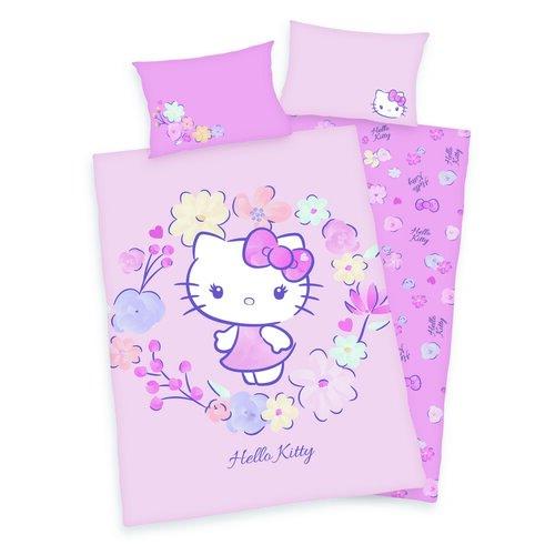 Gyermek pamut ágynemű kiságyba Hello Kitty, 100 x 135 cm, 40 x 60 cm
