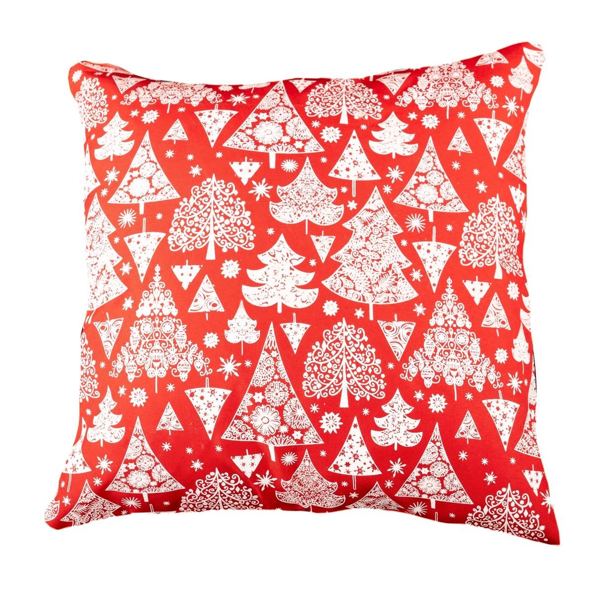 Dakls Vánoční povlak Stromeček červená, 40 x 40 cm