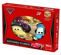 Dřevěné kostky Cars, 20 kostek, vícebarevná